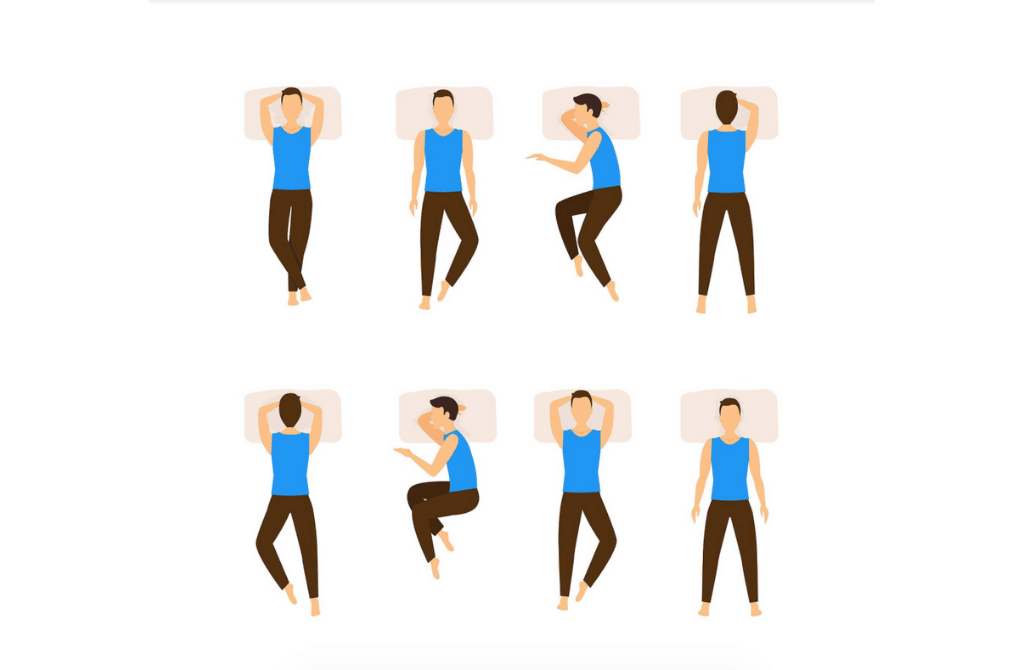 sleeping posture and positions